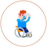Merci Facteur, illustration personne dans un fauteuil roulant