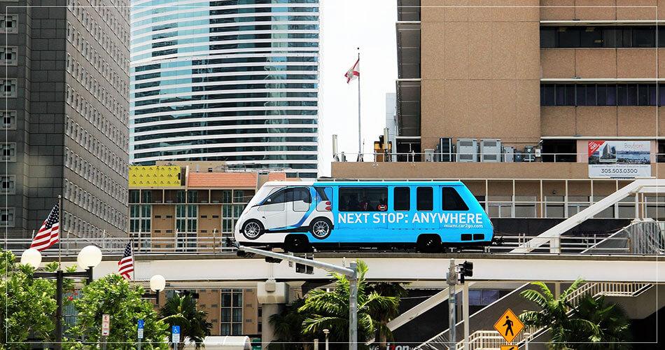 Le Metromover de la ville de Miami (USA)