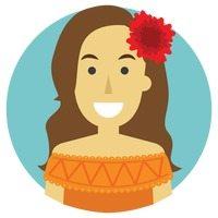 Illustration d'une femme avec costume mexicaine