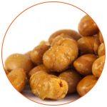 Photo gros plan sur des noix de soja