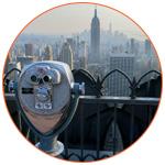Point d'observation vue aérienne à New York (USA)