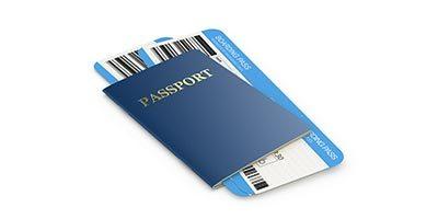 Passeport avec carte d'embarquement