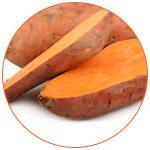 Photo de tranches de patates douces