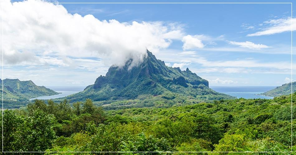 Paysage aérien de Mooréa en Polynésie française