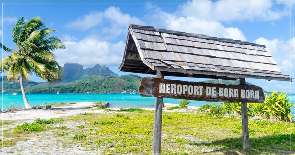 Photo de l'aéroport de Bora Bora en Polynésie française
