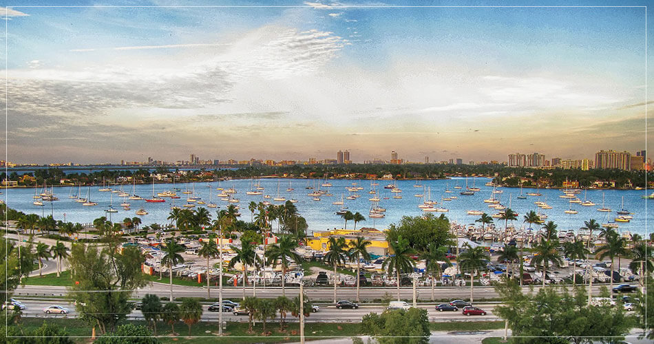 Paysage de la baie entre Miami et Miami Beach - French Radar