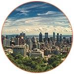 Vue panoramique de la ville de Montréal (Canada)