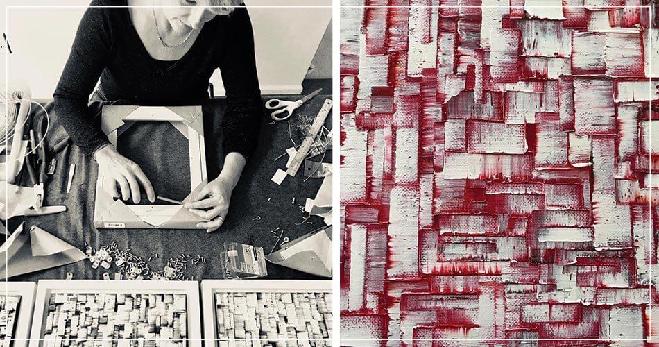 Peinture de Carole Jury, artiste peintre française expatriée aux USA