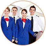 Personnel navigant à bord d'un avion