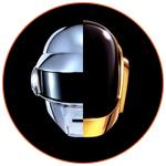Illustration couleur pour le groupe fraçais Daft Punk