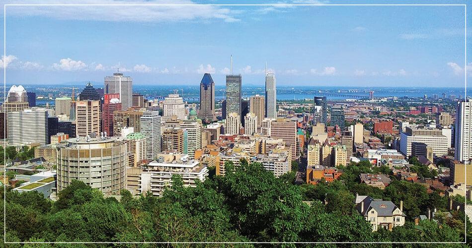 Photo de la ville de Montréal au Canada