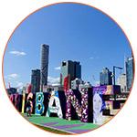 Photo de la ville de Brisbane dans le Queensland en Australie