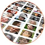 Photomontage concept visages