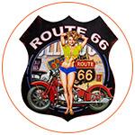 Une pin-up vintage de la Route 66