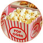 Cornet de pop corn au cinéma