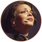 Portrait d'Anne Carrere, chanteuse française