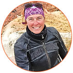 Portrait couleur de Zabel Bourbeau - Motocycliste