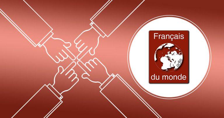 Visuel avec le logo de l'association Français du Monde - ADFE