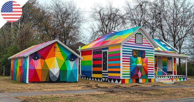 The Rainbow Embassy de l'artiste espagnol Okuda San Miguel