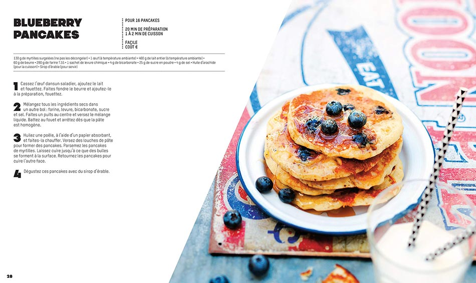 Recette Blueberry Pancakes