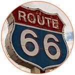 Panneau indiquant la route 66