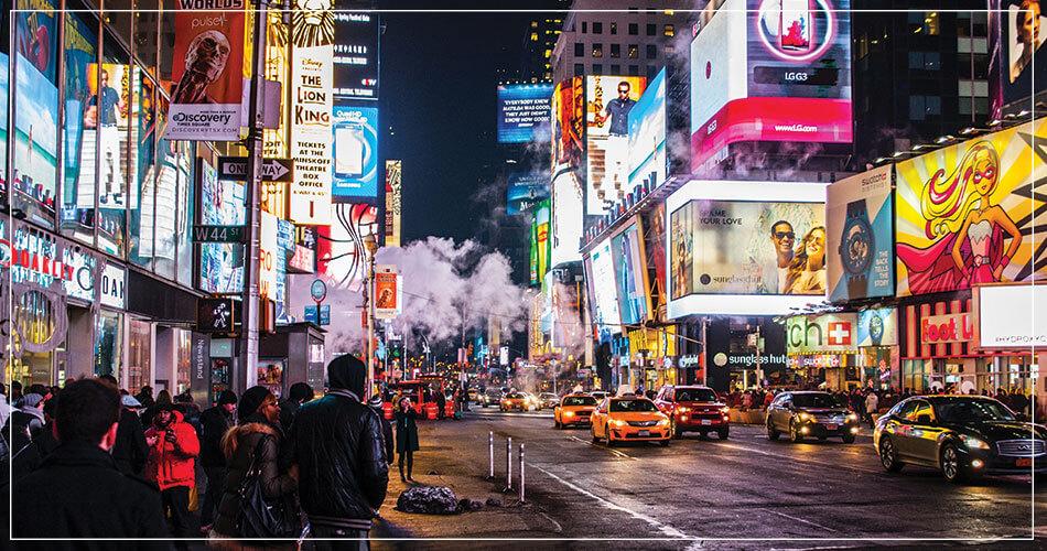 Rue animée de New York (USA)