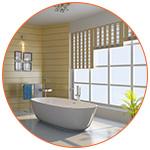Salle de bain respectant les règles du Feng Shui