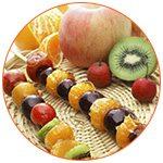 Présentation de fruits frais