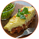 Présentation du plat angais : Shepherd's Pie with green pie