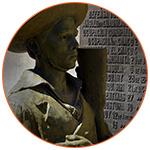 Statue d'un soldat à Buenos Aires