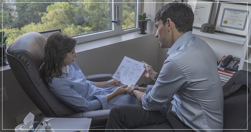 Sylvain Coulon avec une patiente