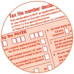 Illustration du TFN, Taxe File Number