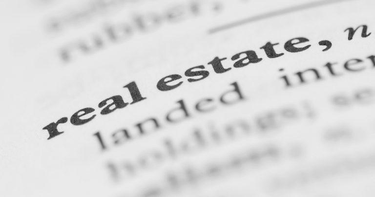 Zoom sur le mot Real Estate