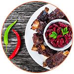 Plat Tex-Mex avec porc et haricots rouges