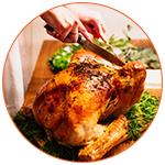 Celebration de Thanksgiving avec une dinde aux USA