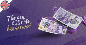 Un nouveau billet de £20 en circulation au Royaume-Uni