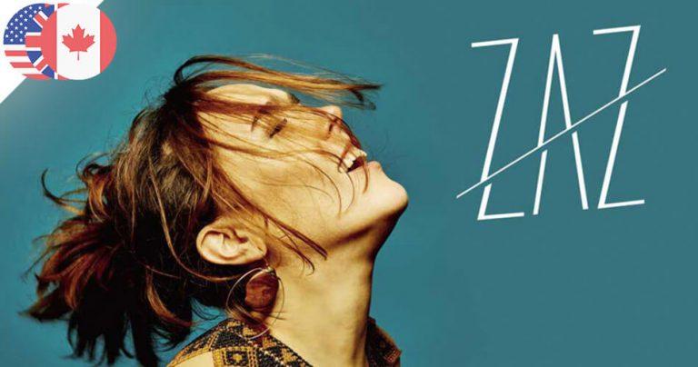 Affiche de la tournée mondiale de la chanteuse française ZAZ