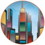 Illustration colorée des tours de New-York