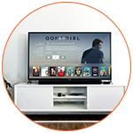 TV avec programmes du câble et de l'internet