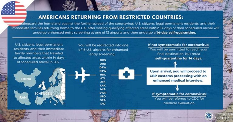 USA : Information DHS sur le Coronavirus