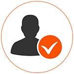 Picto de validation avec silhouette