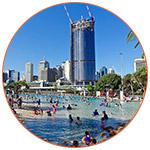 Plage proche de Brisbane en Australie