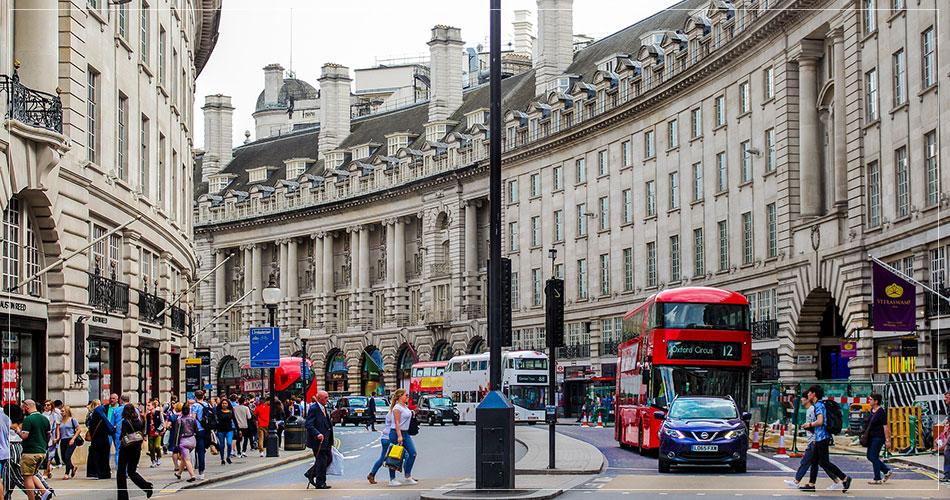 Rue commerçante de Londres