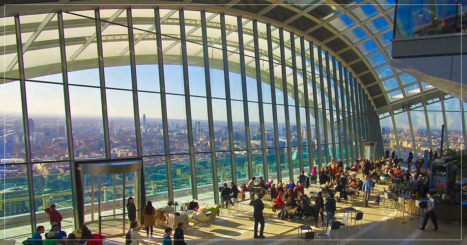 Vue panoramique de la ville de Londres.
