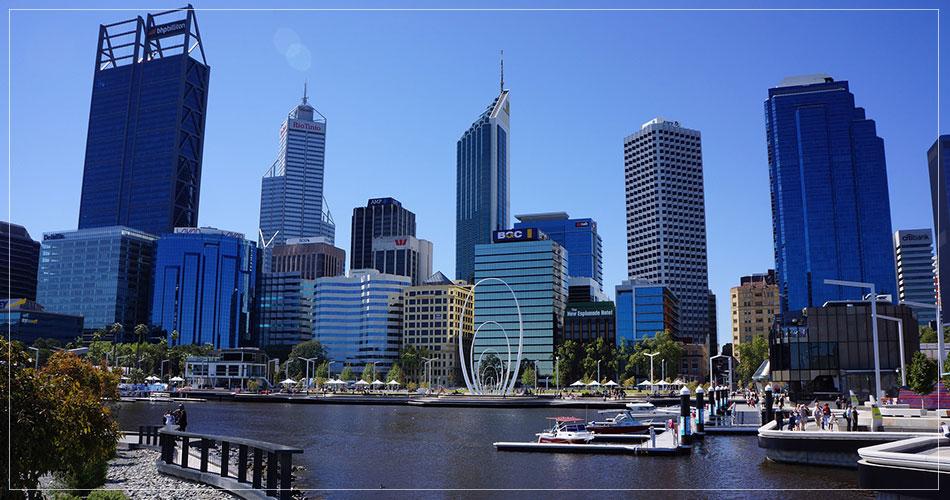 Ville de Perth en Australie