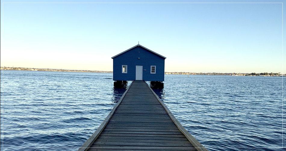 Maison sur l'eau dans la région de Perth en Australie