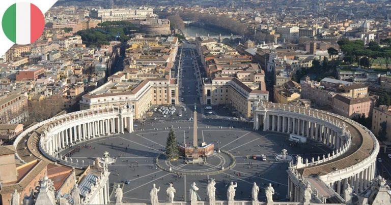 Vue aérienne de la ville de Rome en Italie