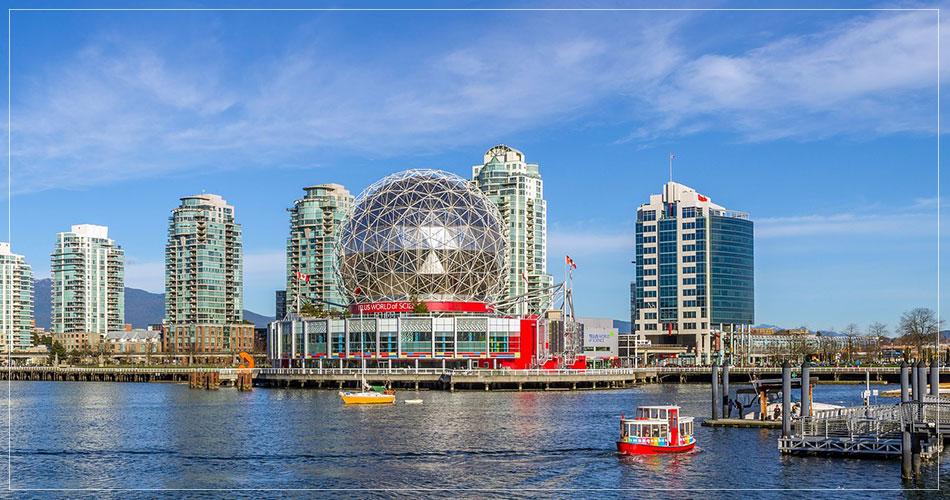 Vue panoramique de la ville de Vancouver au Canada