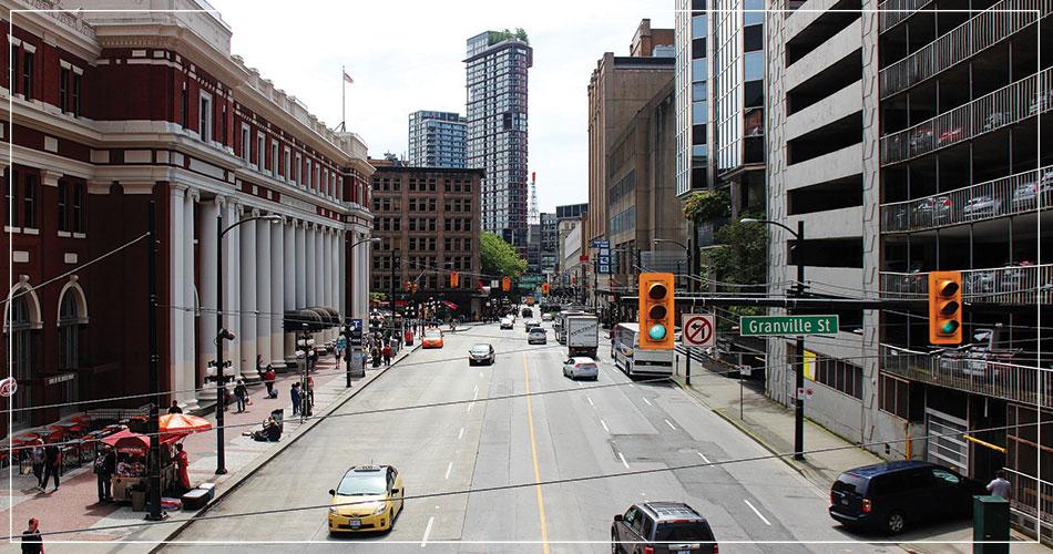 Le centre ville de Vancouver (Canada)