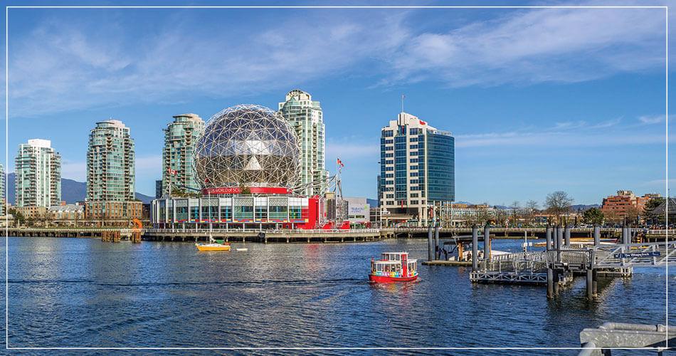 Ville de Vancouver (Canada) et son Musée au bord de l'océan